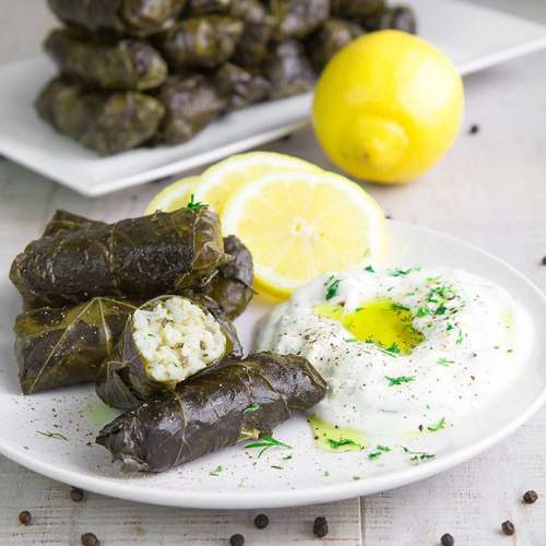 Dolmades (S) - Appetizers, Olive, Aperitive, Pickup, Delivery, Restaurant Decebalus