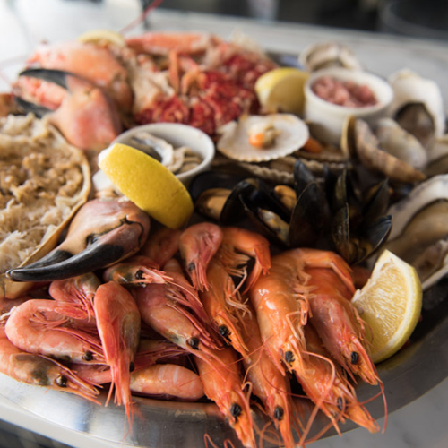 Fish Platter - Thallasina, From the Sea, Salates, Salads, Antreu, Straters, Pickup, Delivery, Restaurant Decebalus
