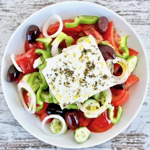Horiatiki, Greek Salad - Salates, Salads, Antreu, Straters, Pickup, Delivery, Restaurant Decebalus
