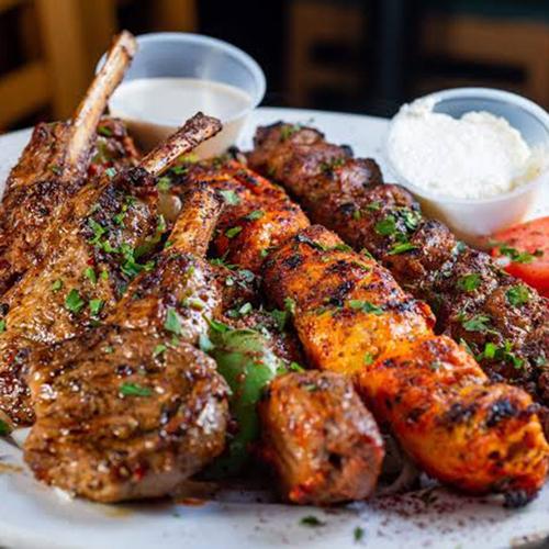 Meat Platter - Grilled Greek Specials, Salates, Salads, Antreu, Straters, Pickup, Delivery, Restaurant Decebalus