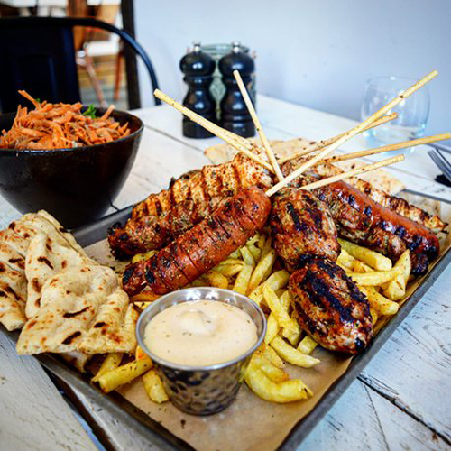 Mix Plater For Two - Grilled Greek Specials, Salates, Salads, Antreu, Straters, Pickup, Delivery, Restaurant Decebalus