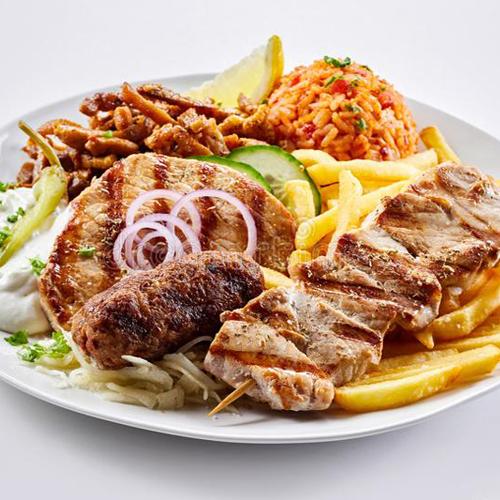 Mixed Souvlaki - Grilled Greek Specials, Salates, Salads, Antreu, Straters, Pickup, Delivery, Restaurant Decebalus