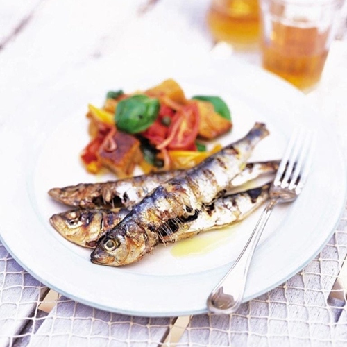 Sardela Sharas, Grilled Sardines - Thallasina, From the Sea, Salates, Salads, Antreu, Straters, Pickup, Delivery, Restaurant Decebalus
