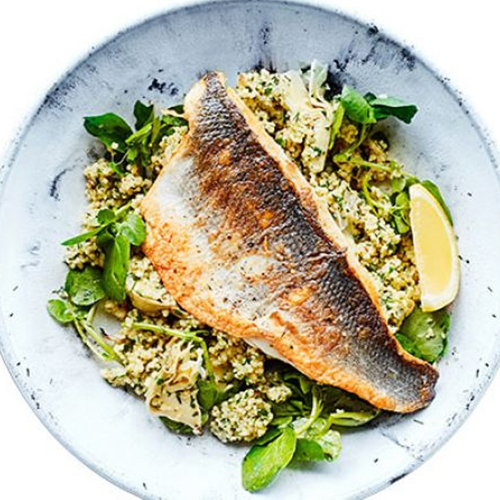 Sea Bass - Thallasina, From the Sea, Salates, Salads, Antreu, Straters, Pickup, Delivery, Restaurant Decebalus