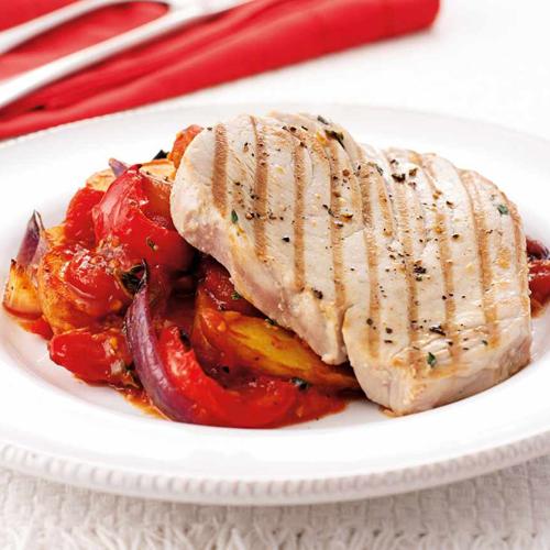 Tuna Steak - Thallasina, From the Sea, Salates, Salads, Antreu, Straters, Pickup, Delivery, Restaurant Decebalus