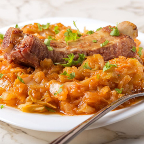 Varza Calita cu Coasta Porc - Mancaruri Gatite, Home Made Foods, Delivery, Restaurant Decebalus